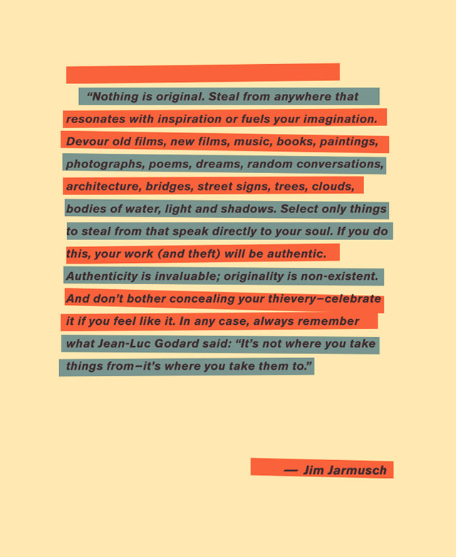 Jim Jarmusch's 5th Golden Rule, or non-rule, of Moviemaking