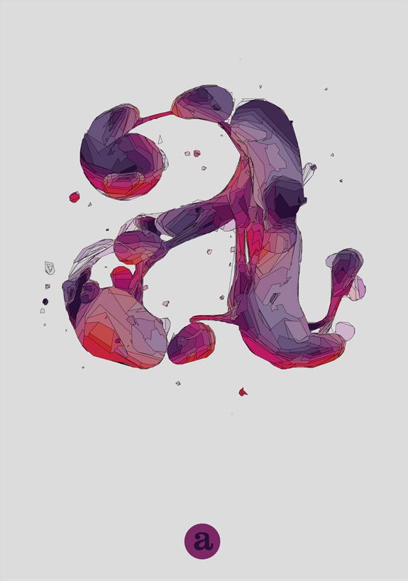 Variation of letter 'a'